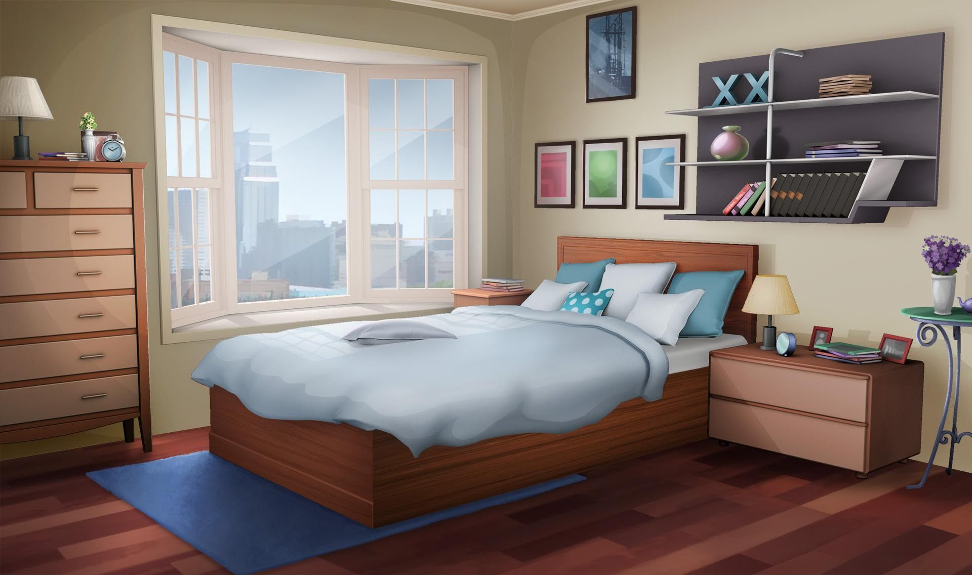 An anime bedroom