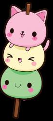 Cute kawaii kebab with cute animals